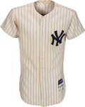 Baseball Collectibles:Uniforms, 1957 Frank Crosetti Game Worn New York Yankees Jersey....