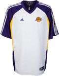 Basketball Collectibles:Uniforms, 2008-10 Kobe Bryant Game Worn NBA Finals Warm-up Jacket & Pantswith Finals Patch.. ...