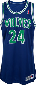 Basketball Collectibles:Uniforms, 1994-95 Tom Gugliotta Game Worn Minnesota Timberwolves Uniform. ...