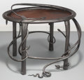 Furniture : American, Francis Nowicki (American, b. 1949). Side Table, circa 1990.Blackened wrought iron. 21 x 27 x 21 inches (53.3 x 68.6 x ...