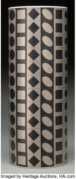 Victor Vasarely (French, 1906-1997)  Geometric Vase, circa