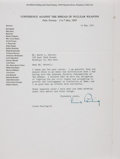 Autographs:Authors, Linus Pauling Typed Letter Signed. Dated May 19, 1961....