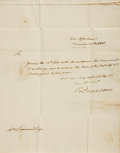 Autographs:Military Figures, Henry Dearborn Autograph Letter Signed. Dated December 20th, 1808....