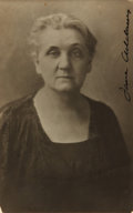 Autographs:Authors, Jane Addams, social and political activist and author (1860 - 1935). Autographed Postcard. Undated....