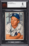Baseball Cards:Singles (1950-1959), 1952 Bowman Mickey Mantle #101 BVG EX-MT 6. ...