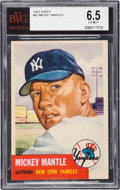 Baseball Cards:Singles (1950-1959), 1953 Topps Mickey Mantle #82 BVG EX-MT+ 6.5. ...