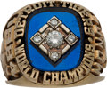Baseball Collectibles:Others, 1984 Detroit Tigers World Series Championship Ring Presented toPitcher Sid Monge....