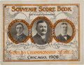 Baseball Collectibles:Others, 1906 World Series Program (Chicago Cubs)....