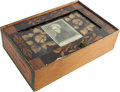 Political:3D & Other Display (pre-1896), Andrew Jackson: 1829 Inauguration Glass and Wood Box....