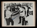 """Boxing Collectibles:Autographs, Muhammad Ali Signed """"Beatles"""" Oversized Photograph...."""