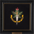 Hockey Collectibles:Others, 1972 Hockey Hall of Fame Crest Presented to Jean Beliveau....