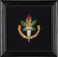 """Hockey Collectibles:Others, 1960 Hockey Hall of Fame Crest Presented to George """"Buck"""" Boucher...."""
