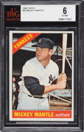 Baseball Cards:Singles (1960-1969), 1966 Topps Mickey Mantle #50 BVG EX-MT 6. ...