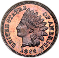 1864 1C Indian Cent, With L, Judd-357, Pollock-Unlisted, R.7, PR62 Red and Brown NGC. Snow-PR2....(PCGS# 21120)