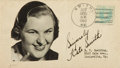 Autographs:Celebrities, Kate Smith Signed Envelope. ...