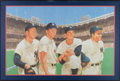 Baseball Collectibles:Photos, Ford, Mantle, Martin and Berra Multi Signed Print....