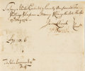 Autographs:Statesmen, Oliver Ellsworth Document Signed. ...
