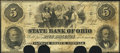 Obsoletes By State:Ohio, Norwalk, OH- State Bank of Ohio, Norwalk Branch $5 May 14, 1862Wolka 2007-25. ...