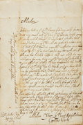 Autographs:Non-American, Sir Cyril Wyche Autograph Letter Signed. Dated August 21, 1657....