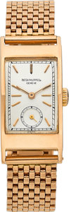 Timepieces:Wristwatch, Patek Philippe Ref. 425 Very Fine Pink Gold Wristwatch, circa 1946....