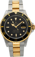 Timepieces:Wristwatch, Rolex Ref. 16613 Two Tone Oyster Perpetual Submariner, circa 1990. ...