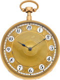 Timepieces:Pocket (pre 1900) , Ls. Duchene & Fils Gold Musical Quarter Hour Repeater, circa1820. ...