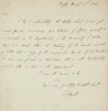 Autographs:Non-American, Thomas Arnold, English educator and historian (1795 - 1842).Autograph Letter Signed. Dated March 2, 1838....