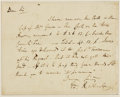 Autographs:Statesmen, Edmund Randolph, first United States Attorney General (1753- 1813).Autograph Letter Signed. Undated....