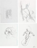 Original Comic Art:Sketches, Joe Quesada, Mark Bagley and Others - Preliminary Art and Commission Sketch Original Art Group of 4 (c. 2001).... (Total: 4 Original Art)