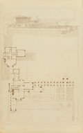Prints:American, Frank Lloyd Wright (American, 1867-1959). House for W.E. Martin,Oak Park, Illinois, 1910. Lithograph on paper. 24-5/8 x...