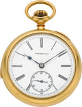 Timepieces:Pocket (post 1900), Tiffany & Co. Minute Repeater Pocket Watch By Patek Philippe & Co.. ...