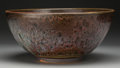 Ceramics & Porcelain, Harding Black (American, 1912-2004). Monumental Bowl, 1955. Stoneware with chun glaze. 7 inches high x 15-1/2 inches dia...