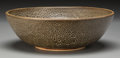 Ceramics & Porcelain, Harding Black (American, 1912-2004). Oil Spot Bowl, 1979. Stoneware with oil spot glaze. 3-1/4 inches high x 10 inches d...
