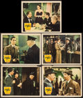 "Movie Posters:Crime, Johnny Apollo (20th Century Fox, 1940). Lobby Cards (5) (11"" X14""). Crime.. ... (Total: 5 Items)"