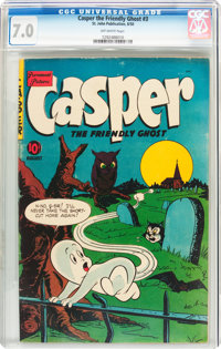 Casper the Friendly Ghost #3 (St. John, 1950) CGC FN/VF 7.0 Off-white pages