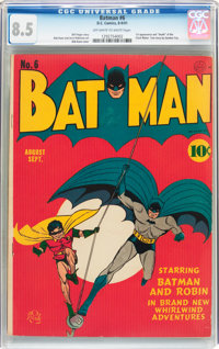 Batman #6 (DC, 1941) CGC VF+ 8.5 Off-white to white pages
