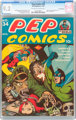 Pep Comics #34 San Francisco Pedigree (MLJ, 1942) CGC NM- 9.2 Off-white to white pages