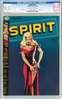 The Spirit #22 (Quality, 1950) CGC NM- 9.2 Off-white to white pages