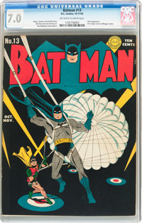 Batman #13 (DC, 1942) CGC FN/VF 7.0 Off-white to white pages