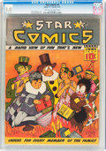 Platinum Age (1897-1937):Miscellaneous, Star Comics #4 (Harry 'A' Chesler, 1937) CGC GD/VG 3.0 Off-white towhite pages....