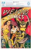 Golden Age (1938-1955):Horror, Weird Comics #1 (Fox Features Syndicate, 1940) CBCS Apparent VG/FN5.0 Moderate (P) Off-white to white pages....