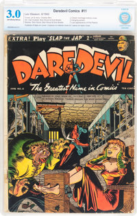 Daredevil Comics #11 (Lev Gleason, 1942) CBCS GD/VG 3.0 Off-white to white pages