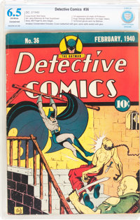 Detective Comics #36 (DC, 1940) CBCS Conserved (A) FN+ 6.5 Off-white pages