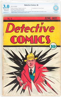Detective Comics #4 (DC, 1937) CBCS Conserved (P) GD/VG 3.0 Slightly brittle pages
