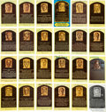Baseball Collectibles:Others, 1980's-90's Baseball Hall of Fame Yellow Postcards Signed Lot of24....