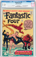 Silver Age (1956-1969):Superhero, Fantastic Four #4 (Marvel, 1962) CGC FN/VF 7.0 Off-white to whitepages....