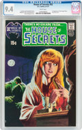 Bronze Age (1970-1979):Horror, House of Secrets #92 (DC, 1971) CGC NM 9.4 White pages....