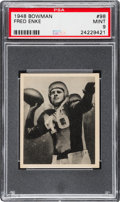 Football Cards:Singles (Pre-1950), 1948 Bowman Fred Enke #98 PSA Mint 9 - Pop One With None Higher!...