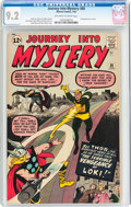 Silver Age (1956-1969):Superhero, Journey Into Mystery #88 (Marvel, 1963) CGC NM- 9.2 Off-white to white pages....