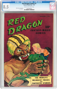 Red Dragon Comics #1 (Street & Smith, 1947) CGC VF+ 8.5 Cream to off-white pages